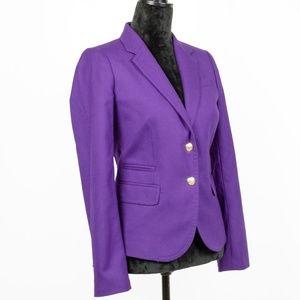 J.Crew Purple Schoolboy Blazer Size 6